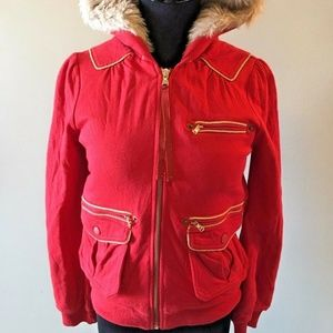 Marc by Marc Jacobs Women's Size Small Red Hoodie